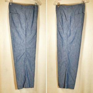 Gap wide-leg chambray pants